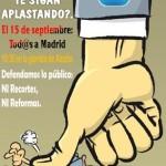 Manifestación Estatal 15-S. Defensamos lo público: ni recortes ni reformas