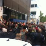 Crónica y fotos de la parada durante el descanso contra el ERE en Tragsatec el 21 de mayo de 2013