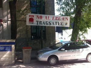 """Pancarta """"No al ERE en Tragsatec"""""""
