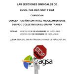 Concentraciones contra el Procedimiento de Despido Colectivo en el Grupo Tragsa